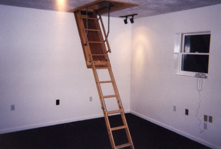 how to build pull down attic stairs