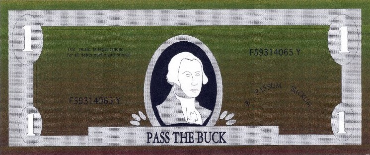 Pass The Buck Logo - 1998
